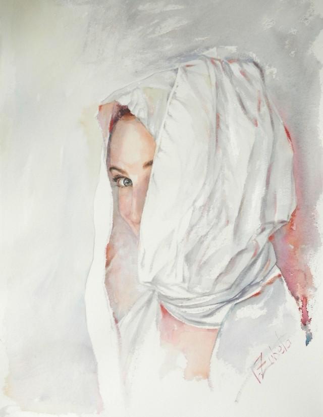Acuarela  y oleo en papel. 40 x 55 cm