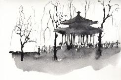 Invierno en el Parque del Palacio de Verano.